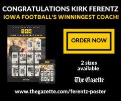 KIRK FERENTZ—144 WINS POSTER W/ THE GAZETTE!