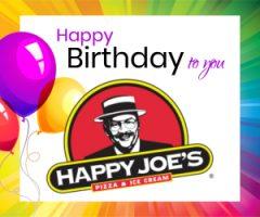 HAPPY BIRTHDAY FROM Z102.9 AND HAPPY JOE'S!